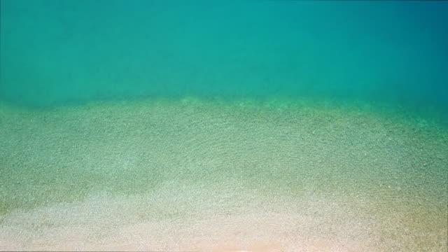 vídeos y material grabado en eventos de stock de una hermosa joven mujer tomando el sol en la playa - lecho del mar