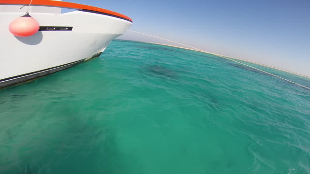 vídeos de stock, filmes e b-roll de pov of a young man boating in a bay in egypt. - filmed in soma bay, egypt, africa - goodsportvideo