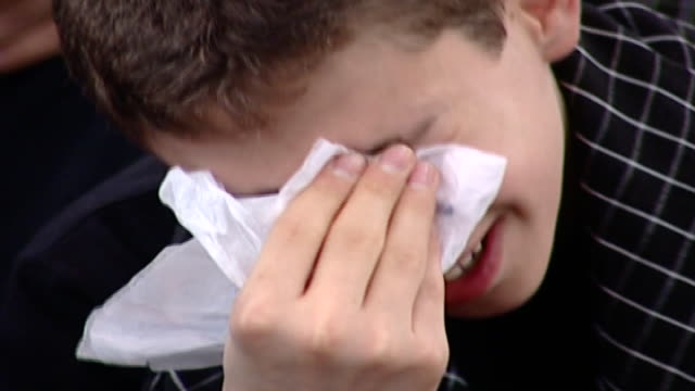 cu of a young shiite man crying during the ashura organised by hezbollah in dahieh ashura is the 10th day of muharram commemorating the death of... - ashura muharram stock videos & royalty-free footage
