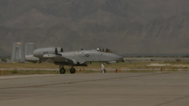 A10s TakeOff Land at Bagram Airfield Afghanistan