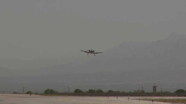 a10s takeoff land at bagram airfield afghanistan - afterburner stock videos and b-roll footage