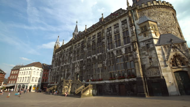 aachener town hall, time lapse - rathaus stock videos & royalty-free footage