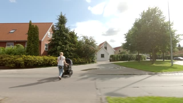 aarhus suburb xxiii synced series left view driving process plate - north stock videos & royalty-free footage