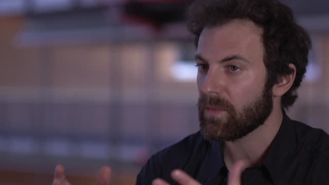 aaron brookner on how the idea for the documentary came round at at 'uncle howard' interview - 66th berlin international film festival at berlinale... - documentary film stock videos & royalty-free footage