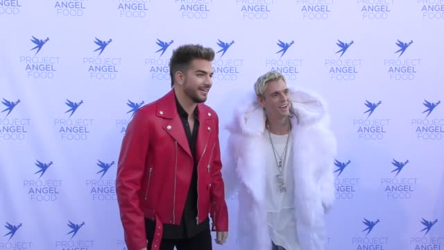 Aaron Carter and Adam Lambert at The Project Angel Food 2017 Angel Awards on August 19 2017 in Los Angeles California