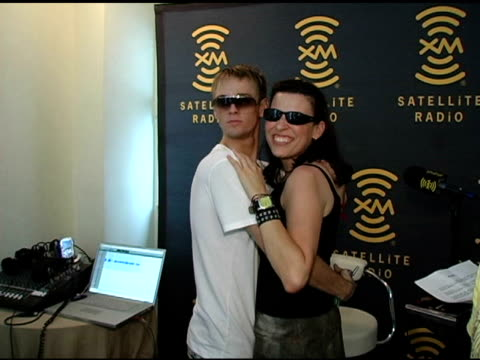 Aaron Carter and Michelle Cartier at the XM Satellite Radio Rocks The Style Villa Day Two at the Sagamore Hotel in Miami Beach Florida on August 27...