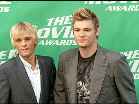 Aaron Carter and Nick Carter at the 2006 MTV Movie Awards Red Carpet at Sony Pictures Studios in Culver City California on June 3 2006