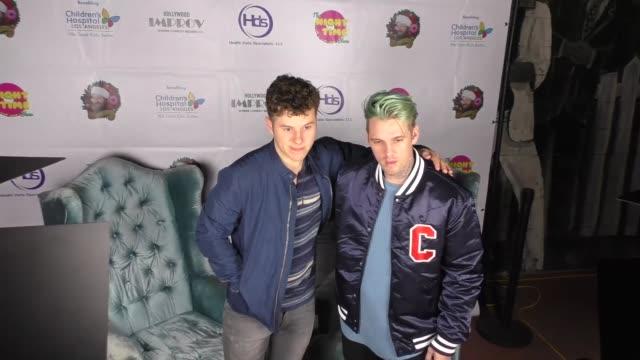 Aaron Carter and Nolan Gould at the Night Time Show Holiday Special for Children's Hospital Los Angeles at Hollywood Improv Comedy Club in West...