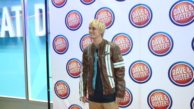 Aaron Carter at Dave Buster's Hollywood Grand Opening VIP Event Hosted By Brody Jenner on August 21 2014 in Los Angeles California