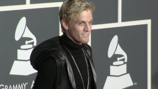 Aaron Carter at the 52nd Annual GRAMMY Awards Arrivals at Los Angeles CA