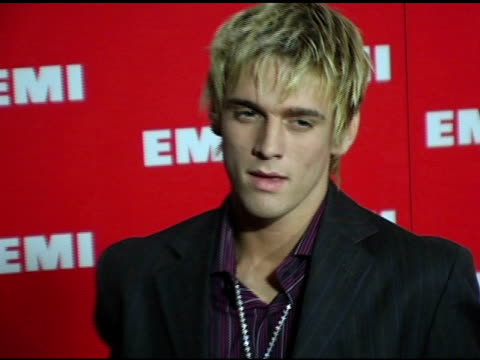 Aaron Carter at the EMI PostGrammy Awards Bash at the Beverly Hilton in Beverly Hills California on February 13 2005