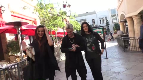 aaron carter at the grove at farmers market in los angeles at celebrity sightings in los angeles on december 02, 2016 in los angeles, california. - the grove los angeles stock videos & royalty-free footage