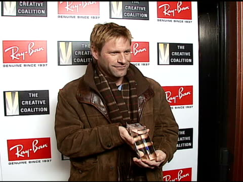 Aaron Eckhart 2007 RayBan Visionary Award Recipient at the 2007 RayBan Visionary Award In Association With The Creative Coalition at Harry O's in...
