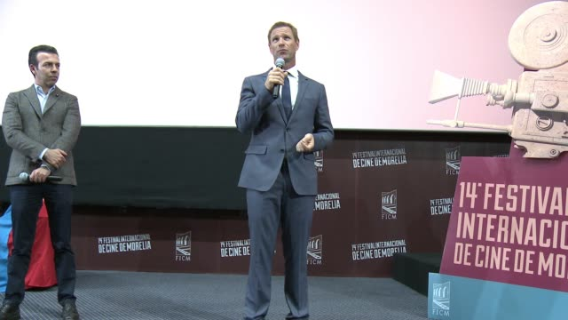 Aaron Eckhart at 2016 Morelia International Film Festival on October 26 2016 in Morelia Mexico