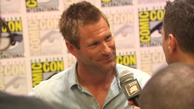 Aaron Eckhart at the ComicCon 2010 'Battle Los Angeles' at San Diego CA