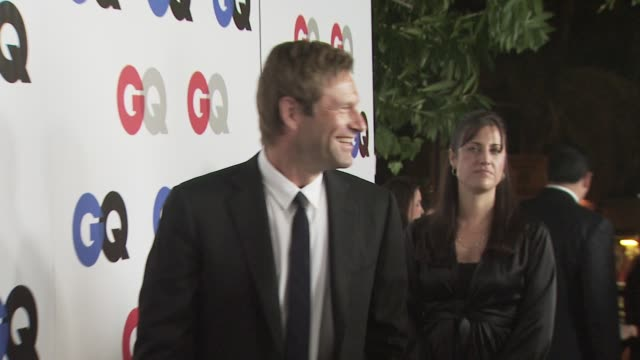 aaron eckhart at the gq men of the year awards at los angeles ca - aaron eckhart stock videos & royalty-free footage