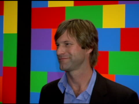 aaron eckhart at the 'thank you for smoking' new york premiere at the museum of modern art in new york new york on march 12 2006 - aaron eckhart stock videos & royalty-free footage