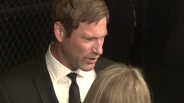 aaron eckhart at the the art of elysium's 2nd annual black tie charity gala 'heaven' at los angeles ca - aaron eckhart stock videos & royalty-free footage