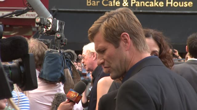 aaron eckhart at the the dark knight european premiere at london - aaron eckhart stock videos & royalty-free footage