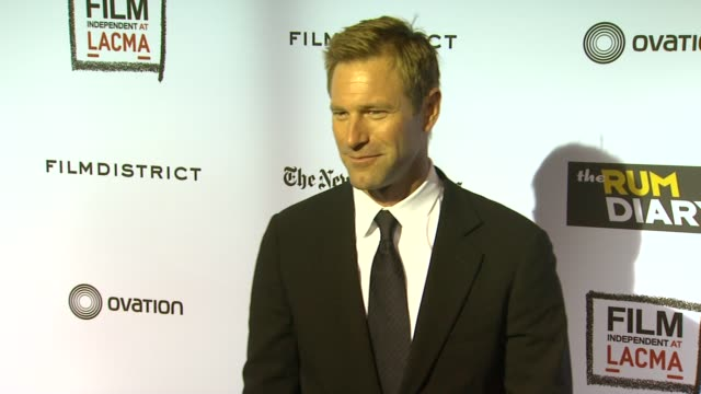 Aaron Eckhart at the 'The Rum Diary' Los Angeles Premiere at Los Angeles CA