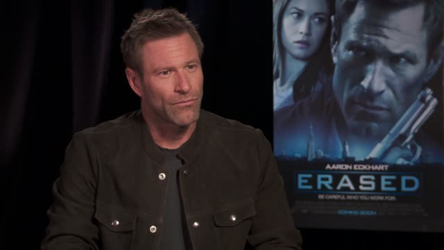 INTERVIEW Aaron Eckhart on how he decides on the types of roles he takes on at the 'Erased' Los Angeles Press Junket INTERVIEW Aaron Eckhart on how...