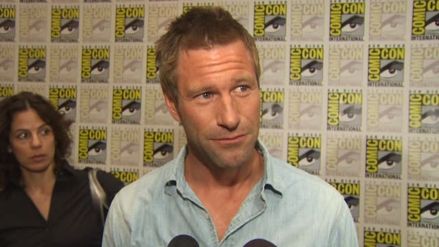 Aaron Eckhart on how it feels to be promoting the film at ComicCon and what was it about this character that attracted him to the role at the...