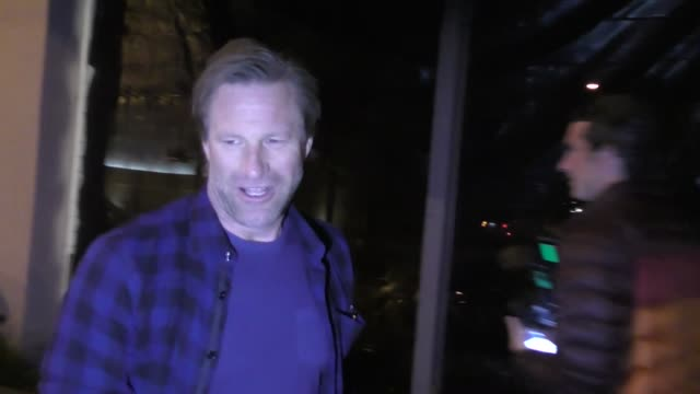 Aaron Eckhart outside Craig's Restaurant in West Hollywood in Celebrity Sightings in Los Angeles