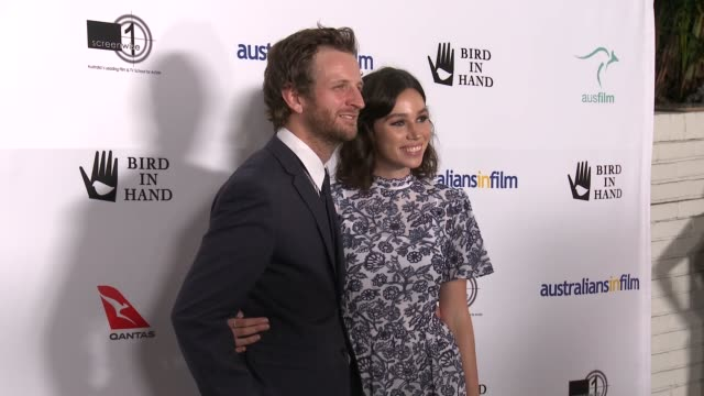 vídeos de stock, filmes e b-roll de aaron glenane, rachel kim cross at bird in hand presents the 10th anniversary of the heath ledger scholarship in los angeles, ca 9/20/18 - heath ledger