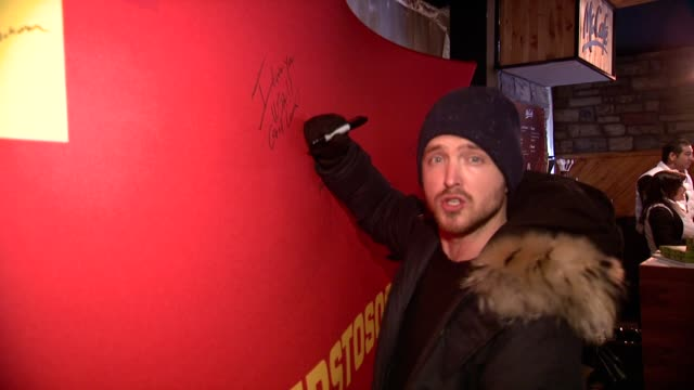 aaron paul at mcdonald's mccafe presents the wireimage portrait studio at village at the lift on in park city utah - mcdonald's stock videos and b-roll footage
