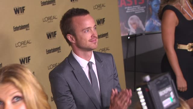 aaron paul at the entertainment weekly and women in film pre-emmy party at west hollywood ca. - pre emmy party stock videos & royalty-free footage
