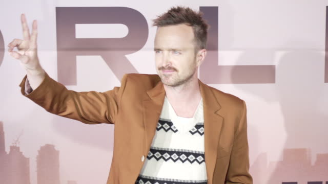 aaron paul at the los angeles season 3 premiere of the hbo's westworld - gif stock videos & royalty-free footage
