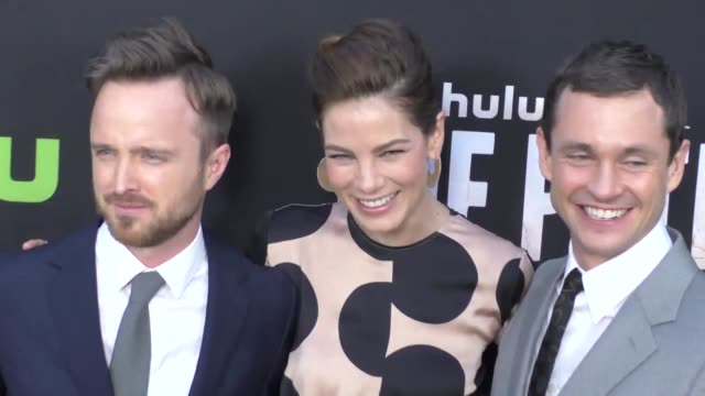 Aaron Paul Hugh Dancy Michelle Monaghan at the Premiere Of Hulu's The Path at Arclight Theatre in Hollywood in Celebrity Sightings in Los Angeles