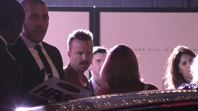 aaron paul outside the westworld season 3 premiere at tcl chinese theatre in hollywood in celebrity sightings in los angeles - mann theaters stock videos & royalty-free footage