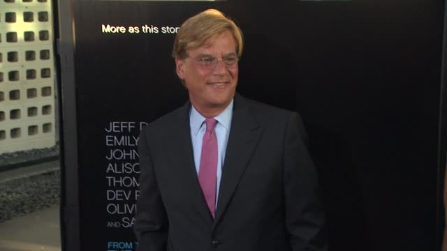 aaron sorkin at hbo's 'the newsroom' premiere at arclight cinemas aaron sorkin at arclight cinemas cinerama dome on june 20 2012 in hollywood... - cinerama dome hollywood stock videos and b-roll footage