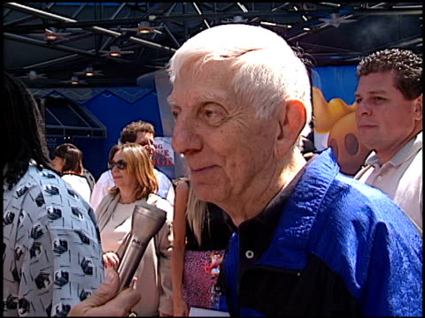 aaron spelling at the premiere of 'the adventures of rocky and bullwinkle' at universal in universal city california on june 24 2000 - the adventures of rocky and bullwinkle 2000 film stock videos & royalty-free footage