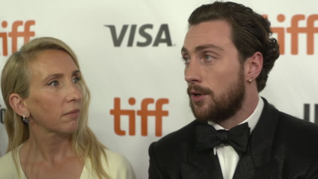 INTERVIEW Aaron TaylorJohnson at Outlaw King TIFF 2018 Opening Night Red Carpet at Roy Thomson Hall on September 06 2018 in Toronto Canada