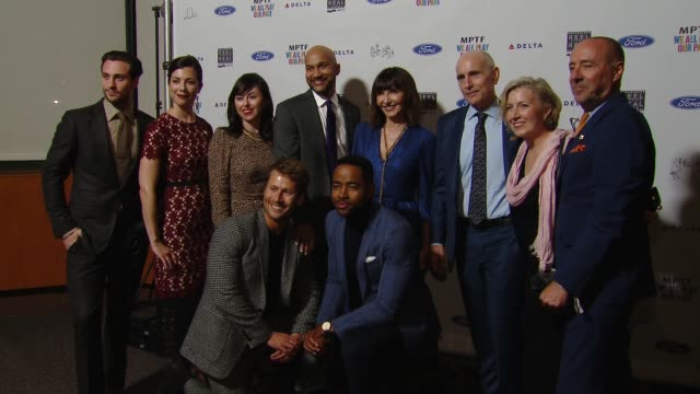 aaron taylorjohnson cate adams tara schuster keeganmichael key mary steenburgen glen powell jay ellis at the 7th annual reel stories real lives event... - director's guild of america stock videos & royalty-free footage