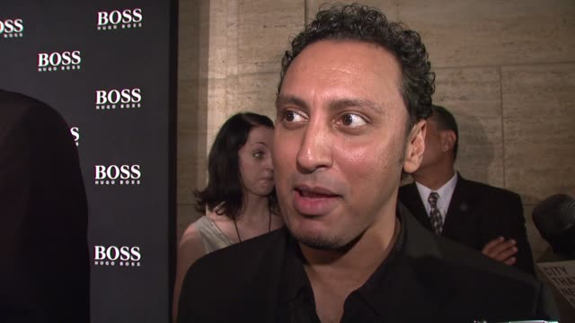 Aasif Mandiv on what brings him out tonight being a fan of Hugo Boss and what about the designs that that makes him a fan about the best fashion...