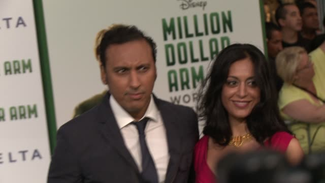 Aasif Mandvi at Disney's 'Million Dollar Arm' World Premiere at the El Capitan Theatre on May 06 2014 in Hollywood California