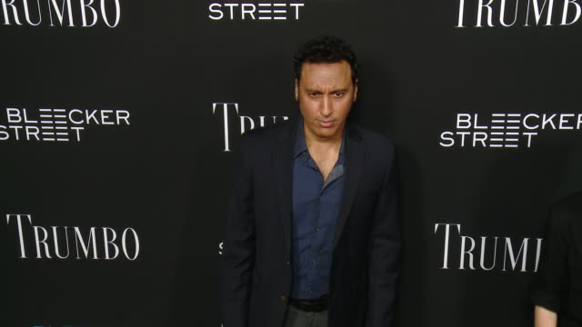 aasif mandvi at the trumbo los angeles premiere at the academy of motion picture arts and sciences on october 27 2015 in beverly hills california - academy of motion picture arts and sciences stock-videos und b-roll-filmmaterial