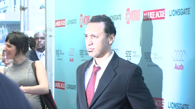 aasif mandvi at the world premiere of showtime's 'nurse jackie' at new york ny - nurse jackie video stock e b–roll