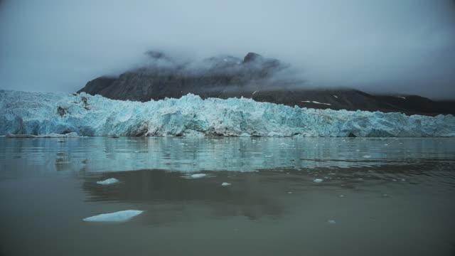 aavatsmarkbreen glacier - スヴァールバル諸島点の映像素材/bロール