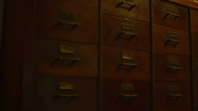 Abacus and old Chinese wood cabinet background