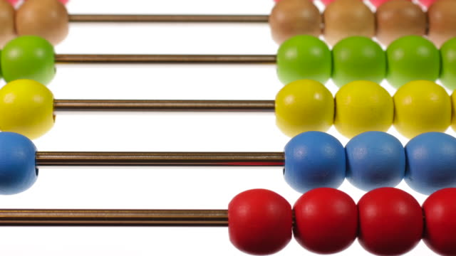 abacus arithmetic addition and subtraction - subtraction stock videos & royalty-free footage