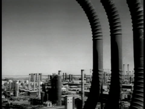 abadan refinery no smoke from stacks no people no britons no iranians no tanks no angloiranian oil company nationalized [this refinery iraqi... - 1951 stock videos & royalty-free footage