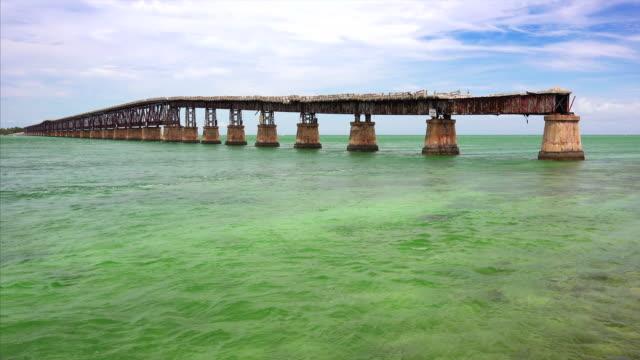 Abandoned Bahia Honda Rail Bridge was part of the Overseas Railway in the lower Florida Keys