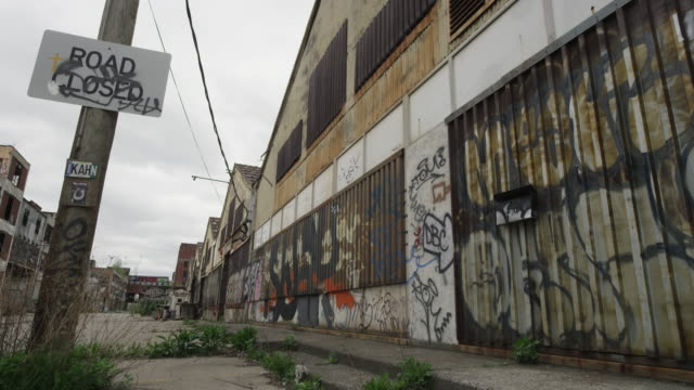 abandoned building in detroit time lapse   - bad condition stock videos & royalty-free footage