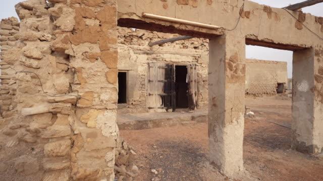 Abandoned building in Ras al-Khaimah, trucking shot