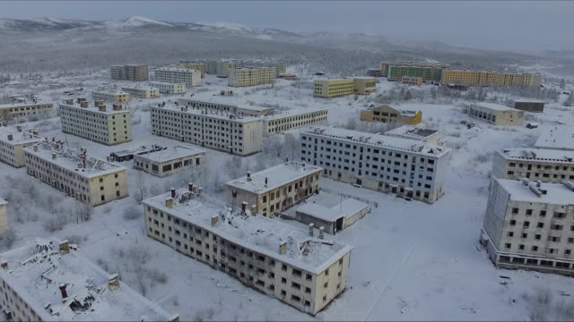 abandoned city of kadykchan in magadan region - ghost stock videos and b-roll footage
