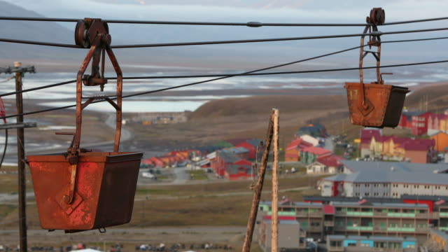 abandoned coal mine in longyearbyen, svalbard - coal stock videos and b-roll footage